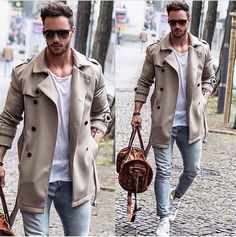 How to Wear a Trenchcoat For Men looks & outfits) Trench Coat Beige, Beige Trenchcoat, Trench Coat Men, Trench Coat Outfit, Men Looks, Style Casual, Men Casual, Smart Casual, Men's Style