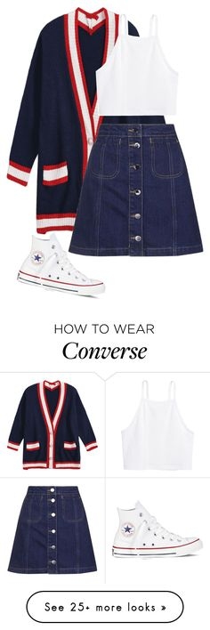 """..."" by pnrcalis on Polyvore featuring Topshop, H&M and Converse"