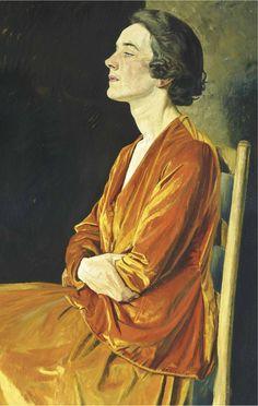 William Rothenstein (1872-1945) Portrait of Gladys Calthrop 1922.