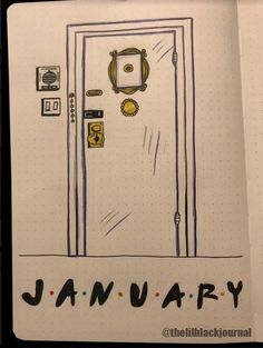So no one told you life was gonna be this way? *clap* *clap* *clap* I'm super excited for my Friends theme for January! Seriously, how cute is that purple door?