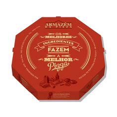 Nova embalagem criada para o Armazém da Pizza.