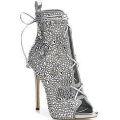 cd9c34d0e9c Giuseppe Zanotti - Giuseppe for Jennifer Lopez 110 Crystal-Embellished  Suede Lace-Up Booties
