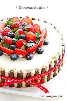 失敗なし!!簡単♡デコレーションケーキ by Banyangarden [クックパッド] Birthday Cake Toppers, Food Illustrations, Let Them Eat Cake, Cake Cookies, Food Art, Cake Decorating, Cheesecake, Deserts, Sweets