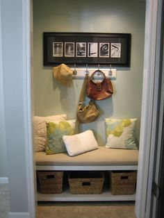Entryway nook ....would need more storage, like the look though!