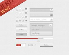 #UI #Kit by ~dxgraphic on deviantART