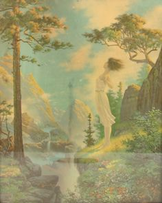 Maid of the Mountains-circa 1930 Art Pictures, Art Pics, Street Art Graffiti, Maid, Painting, Mountains, Top, Art Images, Painting Art