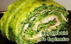 Rocambole de espinafre - Receitas Fit #receitas #receitasfit #receitaslight #dieta #fitness