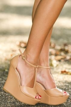 Basic Instinct Wedge-Nude | The Red Dress Boutique