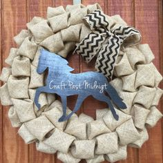 Walking horse burlap wreath by CraftPastMidnight on Etsy
