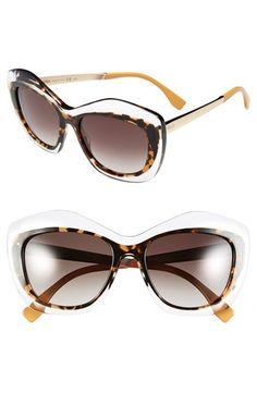 Fendi 54mm Retro Sunglasses available at #Nordstrom