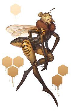Queen Bee, Noa Ikeda on ArtStation at https://www.artstation.com/artwork/queen-bee-3