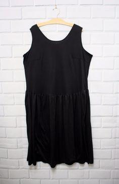 Lane Bryant Black Knit Drop Waist Dress Sleeveless Pockets Plus Size 1X | Clothing, Shoes & Accessories, Women's Clothing, Dresses | eBay!