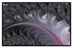 Pink silver fractal art print, large fractal art decor, silver square art, ready to hang, 5 piece fr