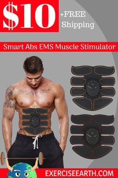 EMS Trainer | Smart Abs | $10 and FREE shipping. Train smarter, not harder! Get your abs toned with Electrical Muscle Stimulation. You wont find this offer at any other retailer, so get yours today before the sale ends! #AbTrainer #CoreAbdominalTrainer #EMS