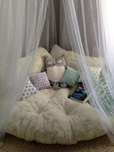 Cozy reading area with soft cushion for everetts reading nook