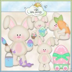 Bobby Bunny 1 - NE Kristi W. Designs Clip Art