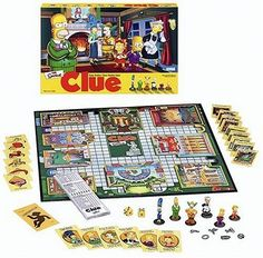 Black Friday 2014 Simpsons Clue from Hasbro Cyber Monday. Black Friday specials on the season most-wanted Christmas gifts. Simpsons Episodes, Simpsons Characters, The Simpsons, Clue Games, Board Games For Couples, Murder Mystery Games, Vintage Board Games, Cool Deck, Games Images