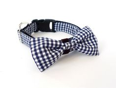 Oh boy... I am going to buy a lot of these. Bowtie Collar in Gingham Navy $24.00