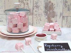 Nubes caseras de frambuesa-Homemade rapsberry marshmallows
