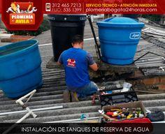 Instalación de tanques de reserva de agua