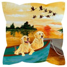 Bring a touch of whimsy to your sofa or settee with this eco-friendly pillow, showcasing a dog motif.   Product: Pillow