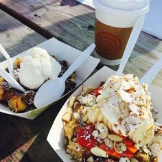 """Seabrook, which is a suburb of Houston, but the Seabrook Waffle Company is SO. GOOD. The Monte Cristo waffle is the height of sweet and savory food combined. And they have local art on the walls for sale."""""""