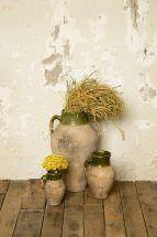 Old Turkish Olive Jars Olive Jar, Flower Pots, Flowers, Ocean, Blue, Jars, Color, Flower Vases, Plant Pots