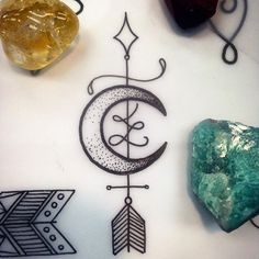 Image result for sternum moon tattoo