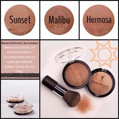 Wanted to lighten or minimize your makeup routine for summer! This bronzer is a must have!! I multitask with this - it works for contouring, as blush, as eyeshadow, & for giving your skin a nice summer glow!!! Pair it with our 3D mascara and Lucrative lip gloss and you're ready to go!! Super easy & quick makeup! www.LashesLikeLea.com