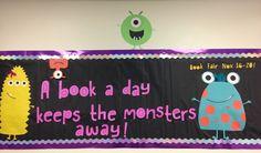 Scholastic book fair Monsters bulletin board