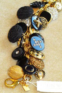 Suzanne's Crazy For Collars: DIY Vintage Button Bracelet