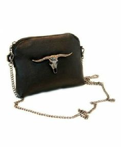 Ox-Head Mini Shoulder Bag in Punk Style