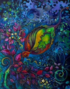 outside the crysalis - laura zollar #ART #NATURE #FLOWER