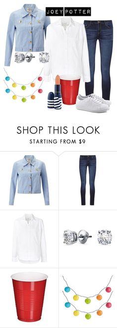 Joey Potter - Outfit Inspiration - Season 4 by vilena-ferreira on Polyvore featuring moda, Frank & Eileen, Baum und Pferdgarten, DL1961 Premium Denim, Blue Nile, Pier 1 Imports and MAC Cosmetics