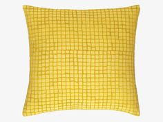 KINSEY YELLOWS Fabric 45 x 45cm yellow flocked cushion - Our favourites- HabitatUK