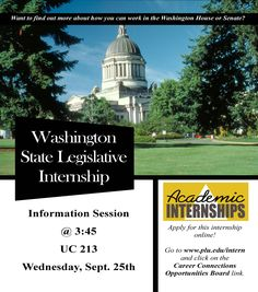 Interested in policy? Check out the legislative internship info session today in the UC!