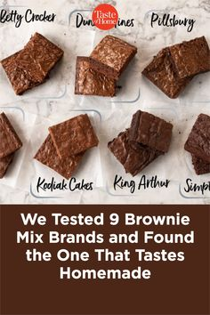 Our Test Kitchen sampled nine brands to find the best brownie mix brands. Trust us, our top picks are just as good as homemade. Banana Brownies, Peanut Butter Brownies, Best Brownies, Fudgy Brownies, Best Brownie Mix, Brownie Sundae, Brownie Bites, Brownie Recipes, Snack Recipes