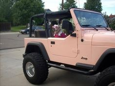 pastel colored jeep