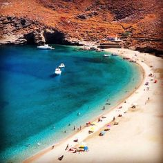 Achla beach in Andros, Greece Mykonos, Santorini, Beautiful Islands, Beautiful Places, Places In Greece, Greece Islands, Amazing Sunsets, Tour Tickets, Andros Greece