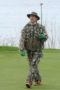 """Momentous moments of 2012: Bill """"Fucking"""" Murray goes golfing in his Caddyshack outfit. #greatesthumansever"""