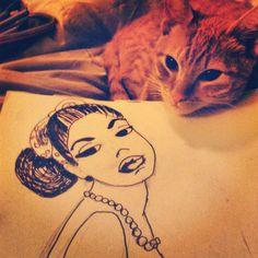 Estamos #dibujando #draw #instacat #mrcat #pinup
