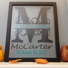 Personalized Floating Picture Frame Split Letter by StickItOnMe