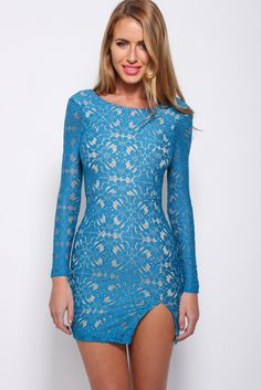 Now Is The Time Dress, Teal, $65 + Free express shipping http://www.hellomollyfashion.com/now-is-the-time-lace-dress-teal.html