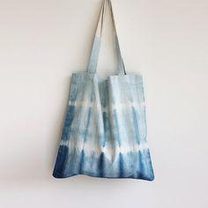 Naturally Dyed Organic Cotton Tote Shopper Bag  by RebeccaDesnos, £25.00
