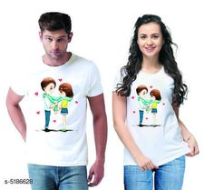 Couple Tshirts Stylish Printed Couple T-shirts  Fabric: Men Tshirt - Cotton  Women Tshirt - Cotton  Sleeves: Half Sleeves Are Included Size: Women Tshirt - S- 36 in M- 38 in L- 40 in XL- 42 in XXL- 44 in Men Tshirt - S M L XL  XXL(Refer Size Chart)  Length: Women Tshirt - Up to 22 in Men Tshirt -  S M L XL  XXL(Refer Size Chart)  Type: Stitched Description: It Has 1 Piece Of Men's T-shirt & 1 Piece Of Women's T-shirt Work - Printed Country of Origin: India Sizes Available: MEN - S/ WOMEN - S, MEN - M/ WOMEN - S, MEN - L/ WOMEN - S, MEN - XL/ WOMEN - S, MEN - XXL/ WOMEN - S, MEN - S/ WOMEN - M, MEN - M/ WOMEN - M, MEN - L/ WOMEN - M, MEN - XL/ WOMEN - M, MEN - XXL/ WOMEN - M, MEN - S/ WOMEN - L, MEN - M/ WOMEN - L, MEN - L/ WOMEN - L, MEN - XL/ WOMEN - L, MEN - XXL/ WOMEN - L, MEN - S/ WOMEN - XL, MEN - M/ WOMEN - XL, MEN - L/ WOMEN - XL, MEN - XL/ WOMEN - XL, MEN - XXL/ WOMEN - XL, MEN - S/ WOMEN - XXL, MEN - M/ WOMEN - XXL, MEN - L/ WOMEN - XXL, MEN - XL/ WOMEN - XXL, MEN - XXL/ WOMEN - XXL   Catalog Rating: ★4.1 (501)  Catalog Name: Stylish Printed Couple T-shirts CatalogID_766848 C79-SC1940 Code: 444-5186628-0111