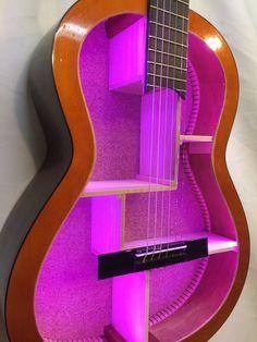 Guitar Shelf  18. Re-purposed acoustic guitar with by aRRtstudios