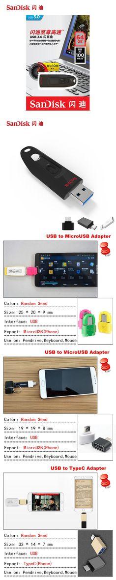 SanDisk USB Flash Drive 256GB 128GB 64GB 32GB 16GB USB 3.0 100MBS Mini Pen Drives Stick U Disk USB Key Flash Drive for PC