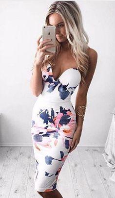 Print Slim Spaghetti Strap Sleeveless Short Dress