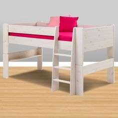 Whitewash Midsleeper Loft Bed by Popsicle - Click to enlarge