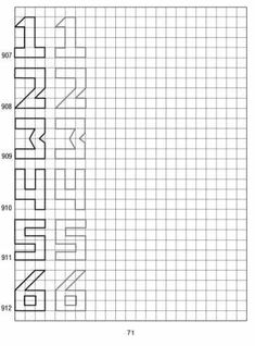 simple shapes on graph paper 71 - 6 Graph Paper Drawings, Graph Paper Art, Cool Drawings, Geometric Drawing, Math Books, Paper Artwork, Learning Through Play, Home Schooling, Simple Shapes